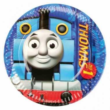 Kinderfeestje bordjes thomas de trein