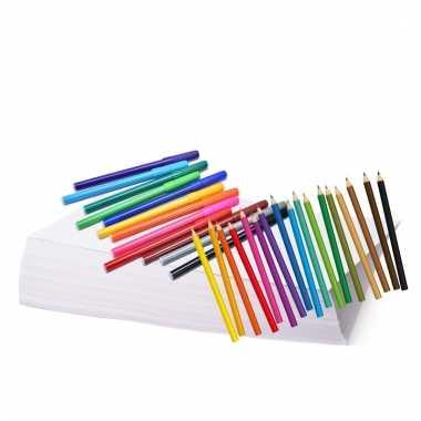 Kleurset met potloden en stiften