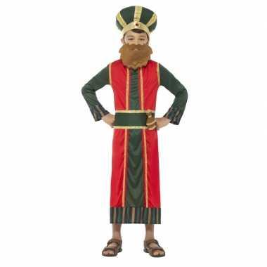 Koning caspar kerst kostuum voor jongens