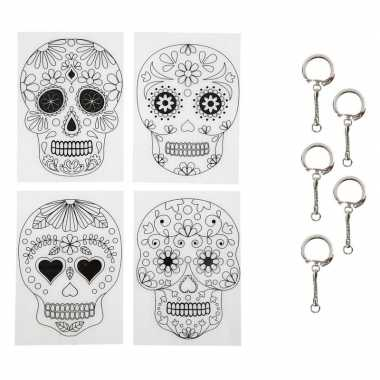 Krimp hobby folie day of the dead met sleutelhangers