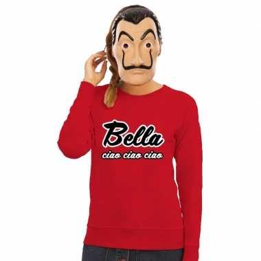 La casa de papel masker inclusief rode bella ciao trui voor dames