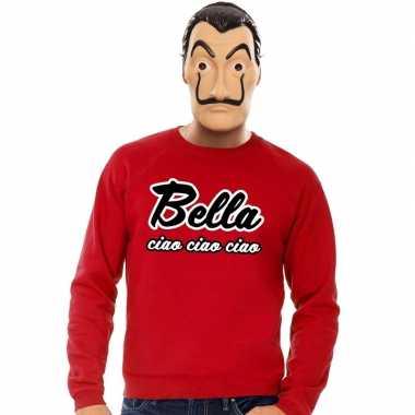 La casa de papel masker inclusief rode bella ciao trui voor heren