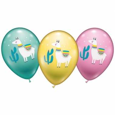 Lama/alpaca ballonnen 6 stuks