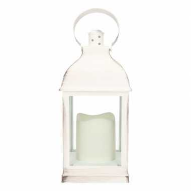 Lamp led kaars, wit 24 cm type 2, formaat 10,5 x 10,5 x 24 cm. excl.