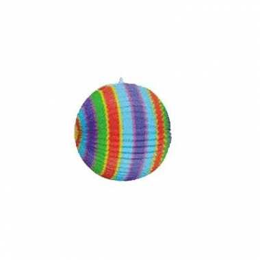 Lampion met verschillende kleuren 26cm