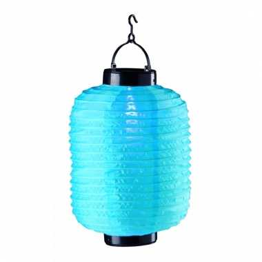 Lampion op zonne energie blauw