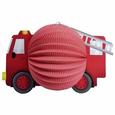 Lampion rode brandweerauto 20 cm