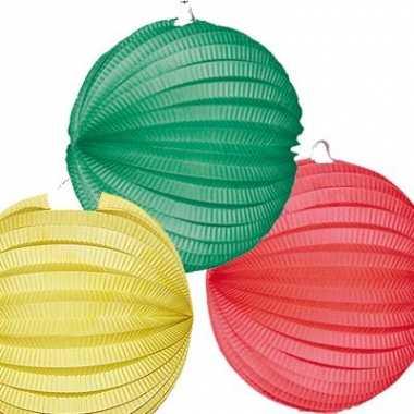Lampionnen geel-groen-rood