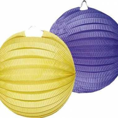 Lampionnen pakket blauw en geel