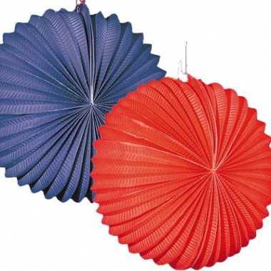 Lampionnen pakket blauw/rood