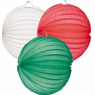 Lampionnen pakket groen wit rood