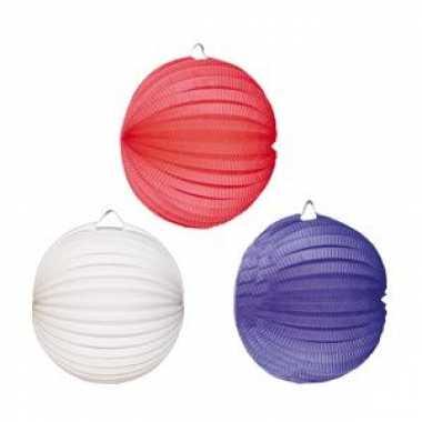Lampionnen pakket rood wit blauw
