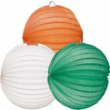 Lampionnen setje oranje-wit-groen