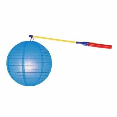 Lampionset blauw 25 cm met lampionstokje