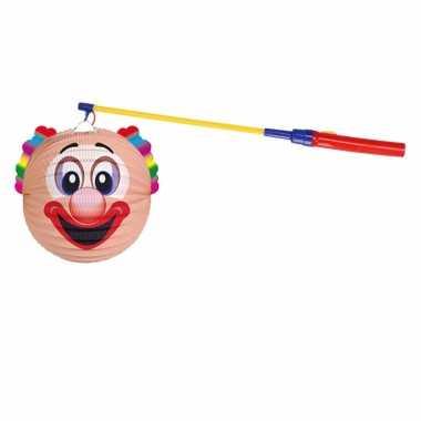 Lampionset clown 22 cm met lampionstokje