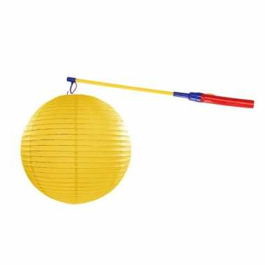 Lampionset geel 35 cm met lampionstokje