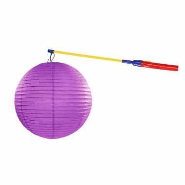 Lampionset paars 35 cm met lampionstokje