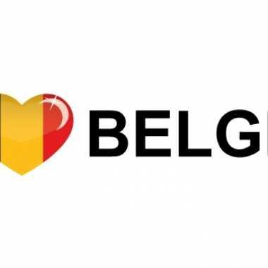 Landen sticker i love belgie