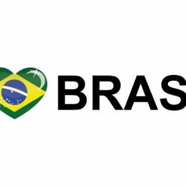Landen sticker i love brasil