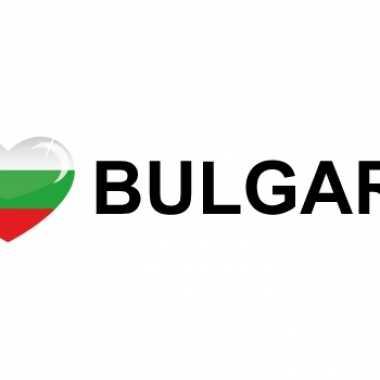 Landen sticker i love bulgaria