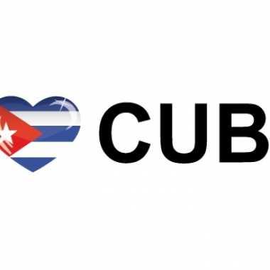 Landen sticker i love cuba