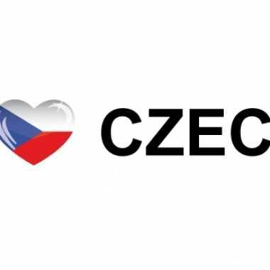 Landen sticker i love czech