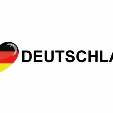 Landen sticker i love deutschland