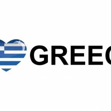 Landen sticker i love greece