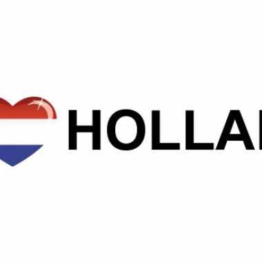 Landen sticker i love holland