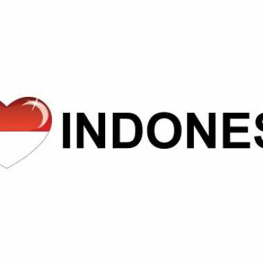 Landen sticker i love indonesia