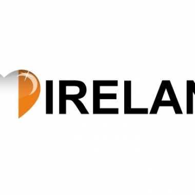 Landen sticker i love ireland