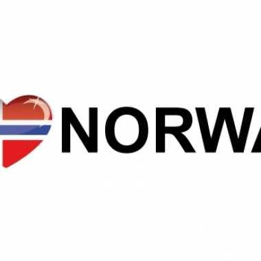Landen sticker i love norway