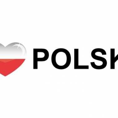 Landen sticker i love polska