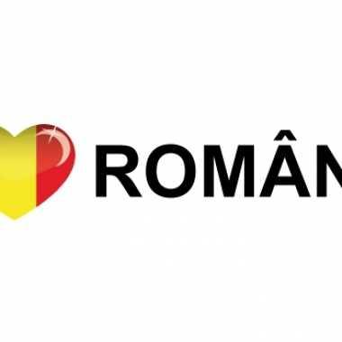 Landen sticker i love romania