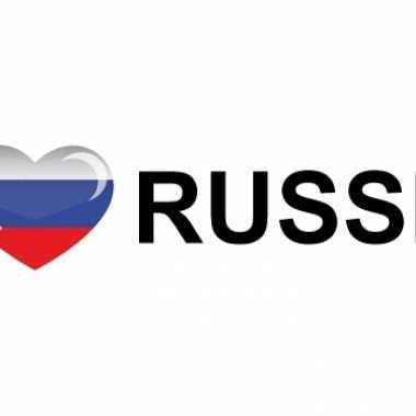 Landen sticker i love russia