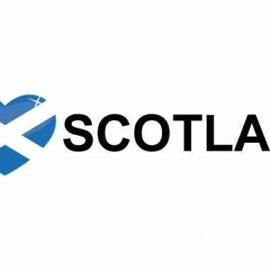 Landen sticker i love scotland
