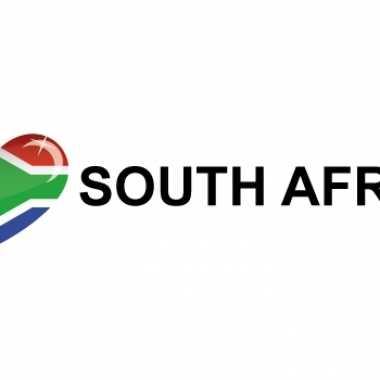 Landen sticker i love south africa