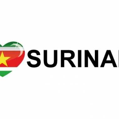 Landen sticker i love suriname