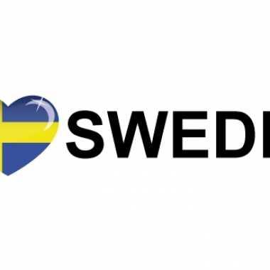 Landen sticker i love sweden