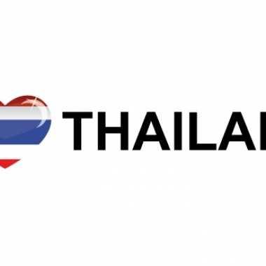 Landen sticker i love thailand