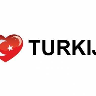 Landen sticker i love turkije