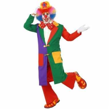 Lange clowns jas voor volwassenen