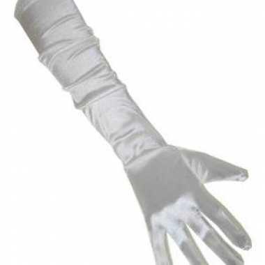 Lange gala handschoenen wit