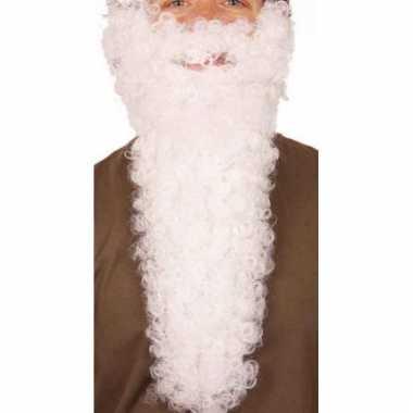 Lange kerstman baard wit