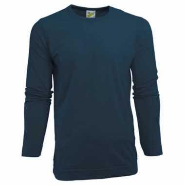 Lange mouwen shirt navy voor heren