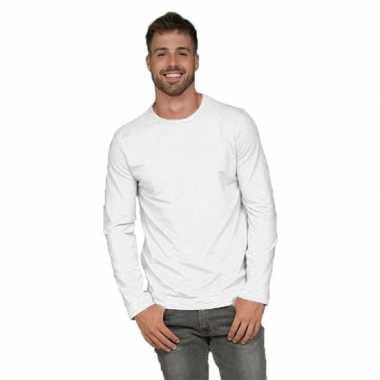 Lange mouwen shirt wit voor heren