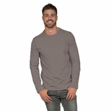 Lange mouwen shirt zilvergrijs voor heren