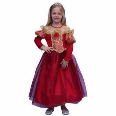 Lange rode prinsessen jurk