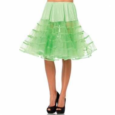 Lange tule onderrok neon groen voor dames