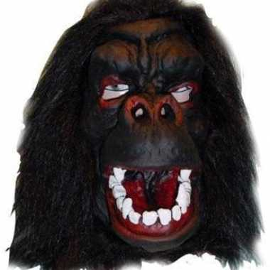 Latex gorilla masker